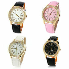Ladies Fashion Geneva Quartz Gold and Crystal Wrist Watch.(Ausie Seller)