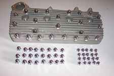 Flathead Ford V8 chrome acorn nut covers, cyl heads and intake, both sets