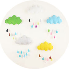 Novelty Removable Cloud Raindrop Wall Stickers Decals Mural Baby Kids Room Decor