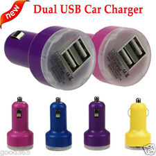 Universal New Bullet Adaptor Dual USB 2-Port Car Charger For iPhone iPod Samsung