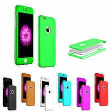 360° Full Hard Hybrid Protect Case + Tempered Glass Cover For Apple iPhone 5S