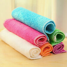 1Pcs Highly Bamboo Fiber Kitchen Hand Towel IN Stock Dish Cloth Rags Set