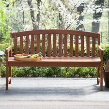 Wooden Garden Bench Wood Outdoor Patio Furniture Seat Yard Deck Porch Park Chair