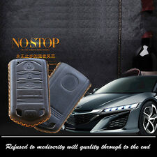 Car Remote Key Fob Top Leather Case Holder Cover Chains For Acura Remote KeyCase
