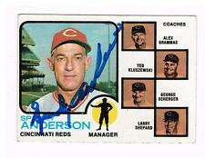 1973 Topps Baseball SPARKY ANDERSON autographed CINCINNATI REDS manager card