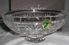 WATERFORD Ireland Crystal 6 inch Keane Footed BOWL Candle Floater with Box