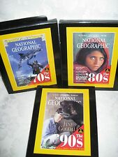 National Geographic Magazines 9 CDS Covering 3 Decades 70's 80's 90's NEW
