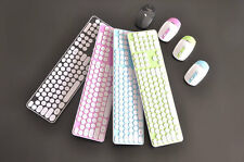 NEW Wireless Keyboard and Cordless Optical Mouse Set for PC Laptop Colorful