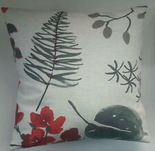 "Bold Red Floral Cushion Cover Matches Next Curtains 14"" 16"" 18"" 20"""