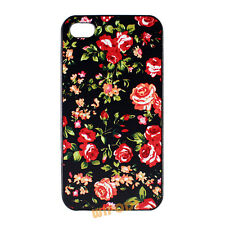 Red Rose Floral Pattern Flower Hard Back Case Cover for Apple iPhone 4 4S 5 5S