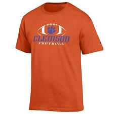Clemson Tigers Football NCAA College T shirt made by Champion Orange