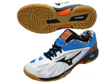 Mizuno JAPAN Badminton Shoes Wave Smash LO3 71GA1660 Whie Blue