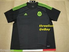 BNWT Adidas 2015 MEXICO Black Home Soccer Jersey Football Shirt Trikot M36002