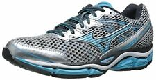 Mizuno Women's Wave Enigma 5 Running Shoe, Silver/Blue Atoll