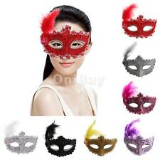 Fancy Dress Feather Lace Eye Mask Masquerade Party Costume