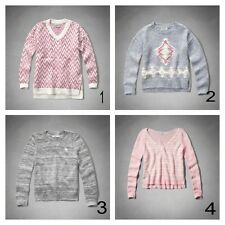 Abercrombie & Fitch Kids Sweaters Girls Size M L XL Pink Grey New WOMAN'S XS S
