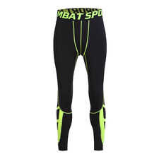 Mens Compression Long Pants Base Layer Skin Tights Running Gym Sports US Ship