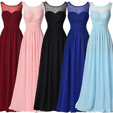 Sexy Maxi V Back Ball Gowns Long Chiffon Party Cocktail Evening Bridesmaid Dress