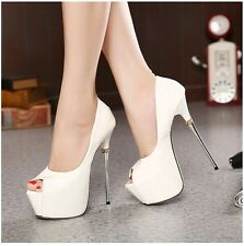 Sexy Peep Toe Platform Pump Women Stilettos High Heels Clubwear Shoes Sandal
