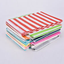 25/50pcs Striped Paper Lolly Candy Buffet Bags Birthday Wedding Party Favour 3T