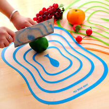Plastic Antibacterial Cutting Board Non-slip Frosted Translucent Fruit Vegetable
