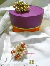 kate spade Tuileries Cluster Cocktail Ring Topaz Gold size 8 new /boxtag 1left