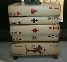 BEAUTIFUL CHEST OF DRAWERS ANTIQUED STACKED PLAYING CARDS FRENCH STYLE