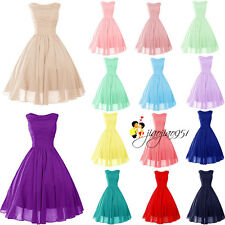 STOCK Hot Mini/Short Bridesmaid Evening Dress Cocktail Prom Party Ball Gown 6-18