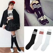 Women's Thigh High Over-Knee Athletic Soccer Rugby Sports Fashion Tube Socks US