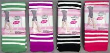 Footless Tights Women & Teenagers - Stripes  6Pairs  Lot (Hs8305S  ^)