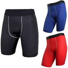 Mens Sports GYM Compression Shorts Under Base Layer Pants Athletic Tights