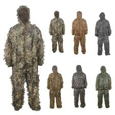 Outdoor 3D Leaf Camouflage Clothing Set Jungle Camo Sniper Tactical Ghillie Suit