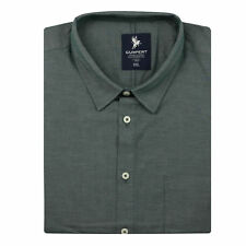 New Mens Big Size Green Cotton Short Sleeve Casual Formal Button Shirt 2XL - 6XL