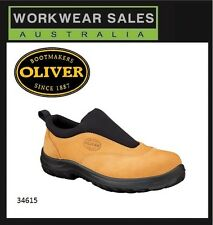 Oliver Work Boots 34615 Steel Toe Safety. Wheat Slip-On Sports Shoe