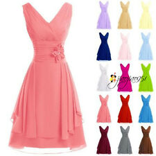 New Formal Short Wedding Bridesmaid Dresses Prom Party Club Ball Gown Stock 6-18