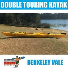 Kayak Double Sea Kayak Touring Ocean Winner Comes with Paddles and Skirts