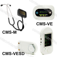 CE Visual Electronic Stethoscope with Multi-function ECG SPO2 heart rate,CONTEC