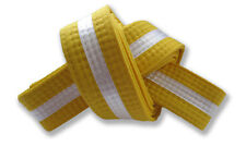 Martial Arts Belts White Stripe - Karate, Taekwondo, Yellow, Orange, Green, Blue