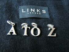 GENUINE LINKS OF LONDON STERLING SILVER 925 LETTER A TO LETTER Z CHARMS - BNIB