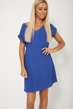 New Ladies Ex Branded Loose Fitting Lace Up Sheer Dress Inspired by Next