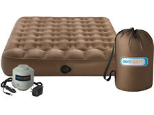 NEW AeroBed Active Double with built in pillow - Rechargeable mains and 12v pump