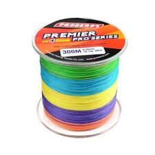 300M Strong PE Braided Sea Carp Fishing Lines 4 Strands Wire 6LB-100LB Colorful