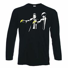 BANKSY PULP FICTION LONG SLEEVE T-SHIRT - Sizes Small to XXL