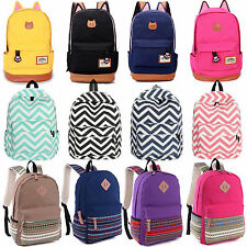 Womens Canvas Backpack Bag Satchel Rucksack Travel Campus Shoulder School Bags