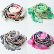 New Womens Ladies Scarf Neck Shawl Scarves Soft Silk Wrap Stole Pashmina P7C6