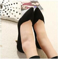 Size 4-8 Formal Lady Women's Stilettos Pointed-toe high Heels Pumps Suede Shoes