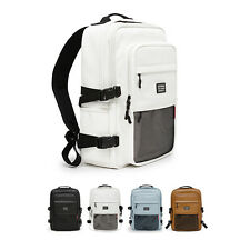 """GSBTshop Mens Faux Leather 14"""" Laptop Cool Incase Backpack Daypack Book Bags"""