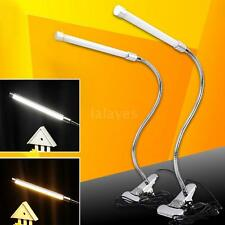 USB Clamp LED Desk Table Lamp Adjustable Clip-on Flexible Gooesneck Light K2M5