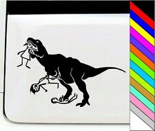 Dinosaur Stick Figure Eats Mens Vinyl Car Home Truck Window Laptop Decal Sticker