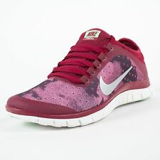 NIKE WOMENS FREE 3.0 V5 EXT NOBEL RED METALLIC SILVER FUSION RED 579828 601